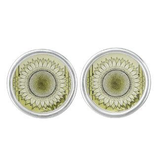 Yellow Sunflower Cufflinks