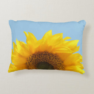yellow sunflower decorative cushion