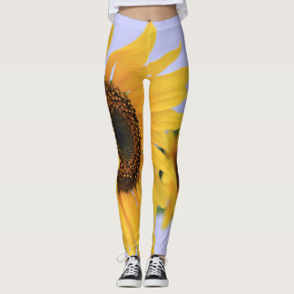 Yellow Sunflower design leggings