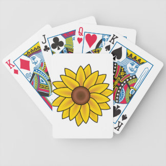 Yellow Sunflower Drawing Bicycle Playing Cards