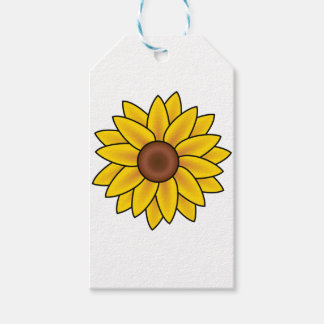 Yellow Sunflower Drawing Gift Tags