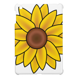 Yellow Sunflower Drawing iPad Mini Cases