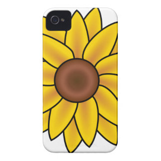 Yellow Sunflower Drawing iPhone 4 Case