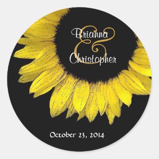 Yellow Sunflower Envelope Seal