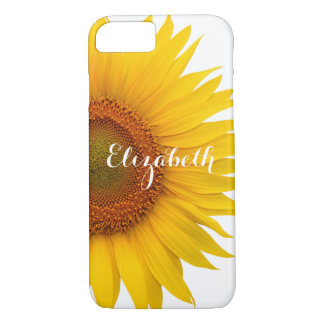 Yellow Sunflower Flower Floral Personalized iPhone 8/7 Case