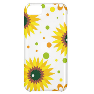 Yellow Sunflower Flower Iphone 5S Case Cover For iPhone 5C