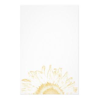 Yellow Sunflower Graphic Stationery