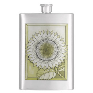 Yellow Sunflower Hip Flask