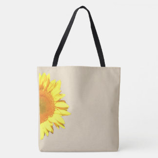 Yellow Sunflower Motif with Editable Options Tote Bag