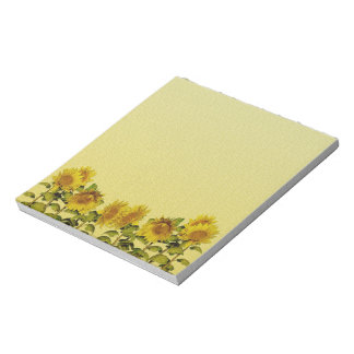 Yellow Sunflower Notepad
