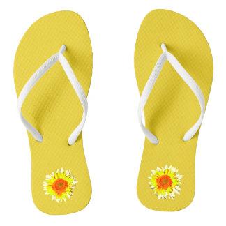 Yellow Sunflower on Thongs