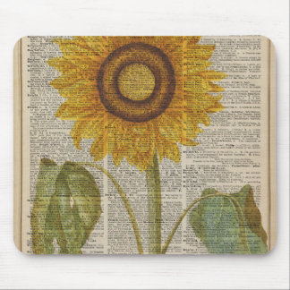 Yellow Sunflower painting Mouse Pad
