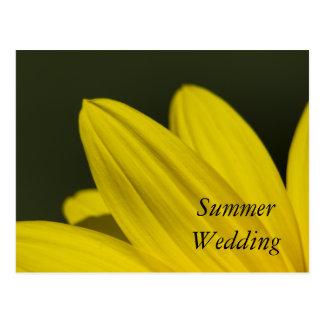 Yellow Sunflower Petals Summer Save the Date Postcard