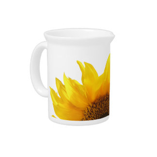 yellow sunflower pitcher