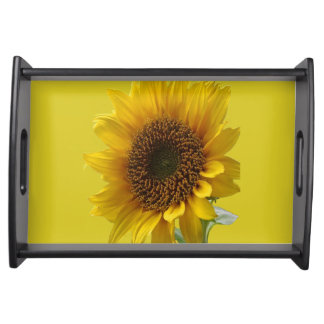 Yellow sunflower serVing tray