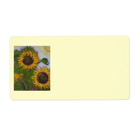 Yellow Sunflower Shipping Label