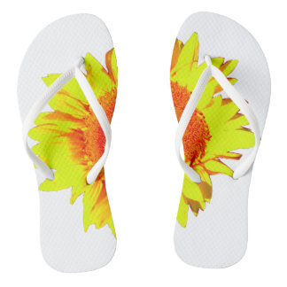 Yellow Sunflower shown on Thongs