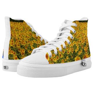 Yellow Sunflower Summer Design High Tops