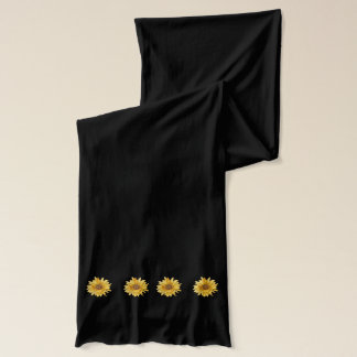 Yellow sunflower, summer scarf