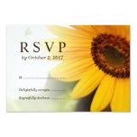 Yellow Sunflower Summer Wedding RSVP Card 9 Cm X 13 Cm Invitation Card