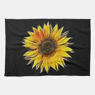 Yellow Sunflower Sun Flower Plant Tea Towel