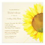 Yellow Sunflower & Swirls Floral Bridal Shower
