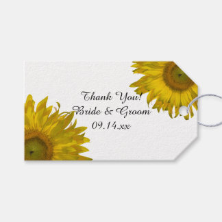 Yellow Sunflower Wedding Favor Tags