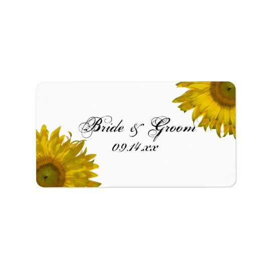 Yellow Sunflower Wedding Favour Tag