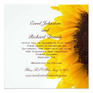 Yellow Sunflower Wedding Invitations