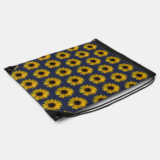Yellow Sunflowers Drawstring Bag