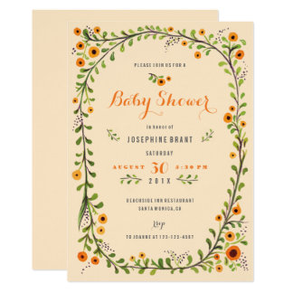 Yellow Sunflowers Floral Baby Shower Card