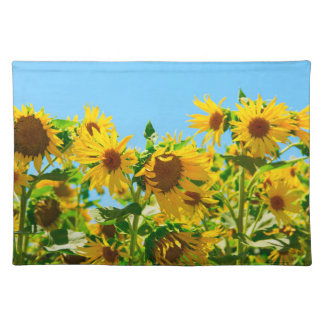 Yellow Sunflowers in a Field Placemat