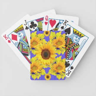 Yellow Sunflowers Lilac Pattern  gifts Bicycle Playing Cards