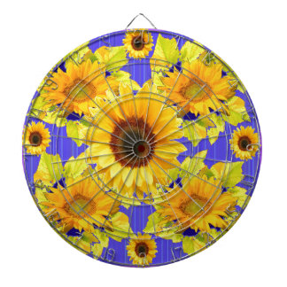Yellow Sunflowers Lilac Pattern  gifts Dartboard With Darts