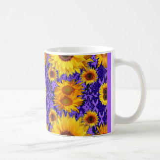Yellow Sunflowers On Amethyst Color Gifts Coffee Mug
