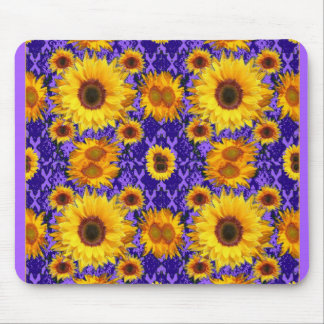 Yellow Sunflowers On Amethyst Color Gifts Mouse Pad