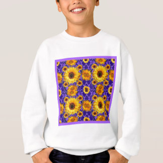 Yellow Sunflowers On Amethyst Color Gifts Sweatshirt