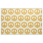 Yellow Sunflowers Peace Sign Custom Fabric