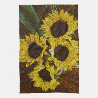 Yellow Sunflowers Tea Towel