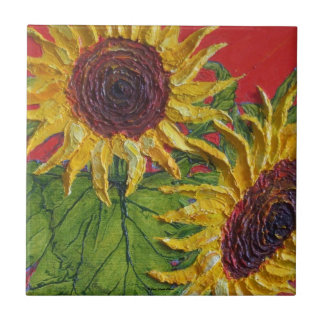 Yellow Sunflowers Tile