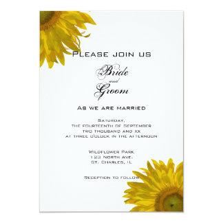 Yellow Sunflowers Wedding 13 Cm X 18 Cm Invitation Card