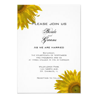 Yellow Sunflowers Wedding Invitation