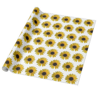Yellow Sunflowers Wrapping Paper