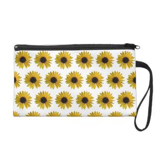 Yellow Sunflowers Wristlet
