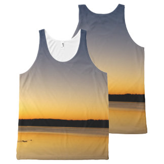 Yellow Sunrise All-Over Print Singlet