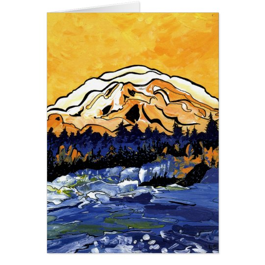 Yellow Sunset Card