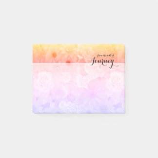Yellow Sunset Pastel Floral Flowers Boho Journey Post-it® Notes