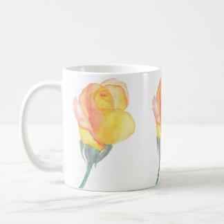 Yellow Sunset Rose Mug