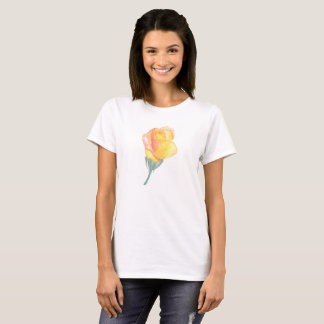 Yellow Sunset Rose T-shirt