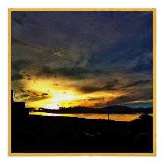 Yellow Sunset Sky Poster